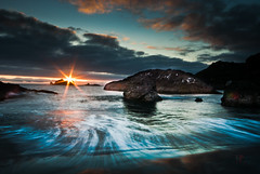 Rising Tide (Folk|Photography) Tags: ocean light sunset sky sun seascape motion beach nature water colors field clouds oregon coast nikon warm long exposure waves dof angle wide sigma super flare sunburst 1020mm tones depth ricks starburst d30000