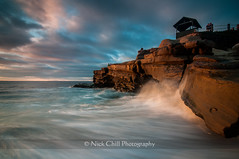 Crashing (Nick Chill Photography) Tags: california sunset beach photography nikon waves pacific sandiego fineart lajollacove stockimage d300s tokina1116mm nickchill