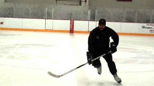 Brad Perry demonstrating a drill