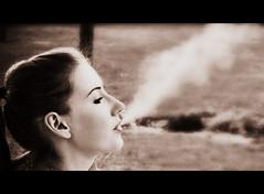 lets go to the cinema... (la cegna) Tags: smoke beautifulgirl piekna kobieta dym dymek dziwczyna