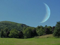 'The Moon' over the Malvern Hills (Katie-Rose) Tags: uk moon bluesky malvern worcestershire lunar malvernhills katierose fbdg doubleexposurecomposite canonpowershotsx230hs week30theme 522012 52weeksthe2012edition 112picturesin2012 57landscape picmonkey weekofjuly22 week302012