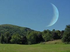 'The Moon' over the Malvern Hills (Katie-Rose) Tags: uk moon bluesky malvern worcestershire lunar malvernhills katierose fbdg doubleexposurecomposite canonpowershotsx230hs week30theme 522012 52weeksthe2012edition 112picturesin2012 57landscape picmonkey weekofjuly22 week302012