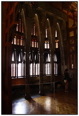 Palau Guell - Barcelona - Spain (Jaafar Mestari) Tags: barcelona light girl canon eos spain interior july arches espana gaudi flare palais cropped baroque 1785 untouched guell espagne palau barcelone modernist 2012 palauguell noediting modernista 50d justcropped canoneos50d