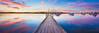 Motionless Mornings (Luke Austin) Tags: pink blue summer reflection art sunrise print boats still vibrant jetty panoramic calm canvas perth westernaustralia melville applecross canningbridge mthenry