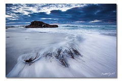 Friendly Beaches, Tasmania (Matthew Stewart | Photographer) Tags: ocean blue light sea sky seascape black beach rock sunrise sand rocks matthew australia stewart friendly beaches tasmania peninsula freycinet