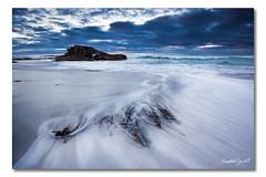 Friendly Beaches, Tasmania (Matthew Stewart | Photographer) Tags: ocean blue light sea sky seascape black beach rock sunrise sand rocks matthew australia stewart friendly beaches tasmania peninsula freycinet