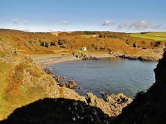 Beach at Port Kale (Jani Helle) Tags: beach scotland portpatrick dumfriesandgalloway cablehouse portphdraig september2011 portkale southuplandway