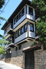 Ohrid, Macedonia () (LeszekZadlo) Tags: road street city house building heritage history home architecture town site europe unesco worldheritagesite macedonia ohrid historical balkans patrimonio fyrom  ph478