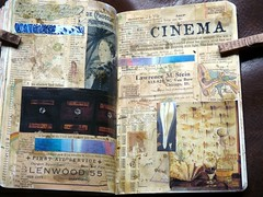 11 wtj Cinema (LaWendeltreppe) Tags: art collages journal wtj