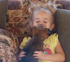 Ava and puppy 6