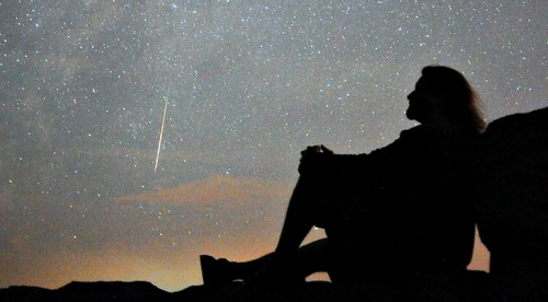 Self portrait with Perseid