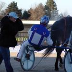 242 - race 12 - Magical Success w/ Darrell Wright leaving the winner's circle thumbnail