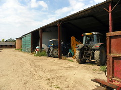 GOC Ickleford 020: Farm machinery (Peter O'Connor aka anemoneprojectors) Tags: tractor barn walking countryside hiking walk farm lavender hike hertfordshire herts cadwell goc ickleford cadwellfarm gayoutdoorclub z981