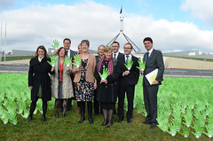 Australian Greens MPs give a Gonski
