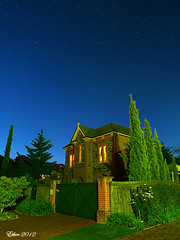 starry night  (EtherH) Tags: house tree night star australia olympus adelaide nightview  starry ether  starrynight wattlepark  em5  etherhuang
