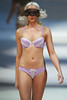 Model Jennifer Hawkins models on the catwalk for Bendon lingerie on Day One of Mercedes-Benz Fashion Festival Sydney, Australia