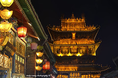 Village Tower - Pingyao ancient town   (Pic_Joy) Tags: china roof building tower art heritage history architecture tile design asia traditional chinese decoration culture unescoworldheritagesite beam luck lantern  tradition shanxi ming  unescoworldheritage pingyao dynasty eaves attraction qing  walledcity rafter   arhitecture     red          carving   lantern painting nandajie     timber  town   ancient    mingqingyitiaojie filigree lacquer