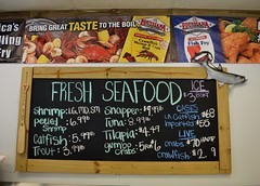 Fresh Seafood Tonight (caroles_corner) Tags: food sign louisiana colorful signage seafood diet chalkboard rates lists prices nutrition
