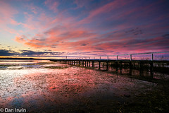 Long Jetty Sunset (Shortydan) Tags: lake canon coast long jetty central entrace the tuggerah
