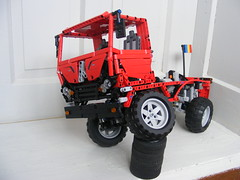 Red Trial Truck (Razvy_cluj_ro) Tags: red truck lego technic pf moc romanianflag powerfunctions trialtruck