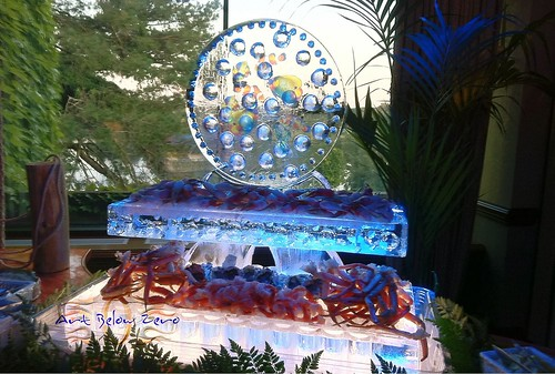 Aquarium Seafood Display Ice Sculpture