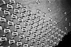 Stickers (McMac70) Tags: badvilbel blackandwhite film film135 kodakbw400cn nikonl35af2 schwarzweis