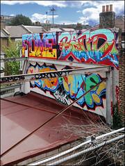 Fume / Band / Rate / Met / Chik (Alex Ellison) Tags: fume band rate dds fbs chik mrmet cbm rooftop westlondon urban graffiti graff boobs trackside