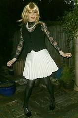 Bit of Editing (Amber :-)) Tags: ecru sunray mini skirt tgirl transvestite crossdressing