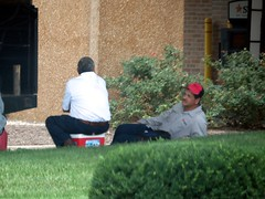 IMG_5812 (kennethkonica) Tags: working workers work color men people helmets canonpowershot canon outdoor global random hoosiers street streetphotography candid city urban marioncounty midwest america usa indiana indianapolis indy summer july persons sit sitting seated