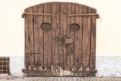 sopracciglia (Zioluc) Tags: door urban face pareidolia wooden eyes gate lodi luciobeltrami