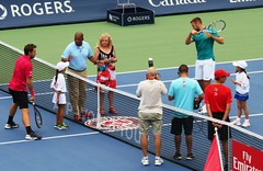 Wawrinka, Sock with 39 year patron of the tournament (lady) (Hear and Their) Tags: rogers cup toronto 2016 aviva tennis professional djokovic