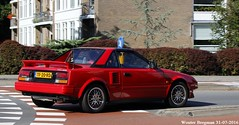 Toyota MR2 1.6 Twin Cam 1988 (XBXG) Tags: tf20rd toyota mr2 16 twin cam 1988 toyotamr2 targa overveen nederland holland netherlands paysbas vintage old classic japanese car auto automobile voiture ancienne japonaise japan japon asiatique red rood rouge worldcars