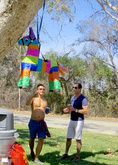 IMG_6935 (danimaniacs) Tags: party griffithpark hot sexy man guy shirtless hunk pinata colorful stripes fun