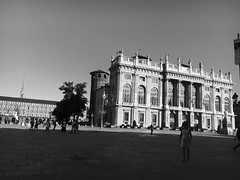 Piazza Castello, Turin. (martinabarral) Tags: iphone hdr home blackandwhite italy torino