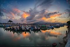 Bali Dist., New Taipei City, Taiwan (R.O.C.) () Tags: bali dist new taipei city taiwan roc  64        sunrise black card digital slr landscape ferry head 5diii 5d3        sigma15mmf28exdgfisheye