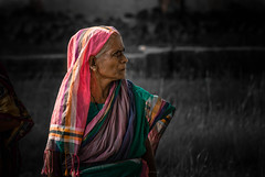 Who  Is She ???? (mithila909) Tags: people portrait women oldwomen face streetphotography colour bangladesh emotion