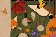September 10 2016, Saturday Afternoon (interchangeableparts) Tags: biodiversityintheburbs charleyharper needlepoint treglowndesigns