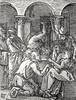 Phillip Medhurst presents John's Gospel: Bowyer Bible print 5574 Jesus is mocked John 19:2-3 Durer (Phillip Medhurst) Tags: john johnsgospel gospelaccordingtojohn gospel jesus christ jesuschrist bowyerbible bible bibleillustration durer mock crownofthorns kingofthejews homage pilate