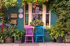 Curb Appeal (tpatt83) Tags: skibbereen ireland nikon 2016 summer west cork skibb bridge house bb curb appeal main street pink blue chair nasturtium shamrock bed breakfast