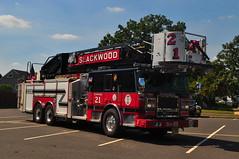 Slackwood Volunteer Fire Company Tower 21 (Triborough) Tags: nj newjersey mercercounty lawrencetownship lawrenceville svfc sfc slackwoodvolunteerfirecompany firetruck fireengine tower towerladder seagrave