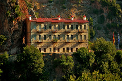 Prousssos Monastery (rodiann) Tags: greece monastery orthodox building trees mountain outdoor