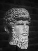 Roman Bust, Roman-German Museum, Cologne (1mpl) Tags: olympusomdem1 germany travelphotography cologne romangermanmuseum bw monochrome niksilverefexpro ancientart sculptures