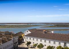 Faro, Old Town (Hans van der Boom) Tags: holiday vacation europe portugal faro algarve roof turret windows building seaocean estuary delta pt
