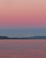 Tuesday at the Beach (Walking Uno Photos) Tags: britishcolumbia vancouverisland sidney mountain ocean reflection mybaker sunset