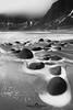 "rocks (Federico ""Jäger"" Serafini) Tags: norvegia lofoten ghiaccio rocce rocks norway aurora boreale northern light clouds nuvole sea spiaggia long exposure"