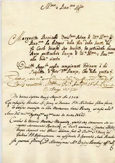 Esempi diversi di scrittura del XVIII secolo