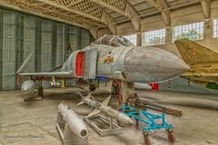 IMG_4437-1NikDE (Nimbus20) Tags: phantom raf duxford f4m fgr2 spey jet fast gun tanks missiles sparrow sidewinder hangar plane