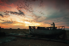 No More Fisherman's Tale's   .   .   .  . (Jacko 999) Tags: roberteede sunset neutral density filter graduated boat dungeness colour landscape country urban texture beautiful