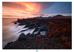 Los Hervideros (darkshine231) Tags: loshervideros lanzarote volcans vulcans island sunset colors rocks rocky seascape landscape fujifilm xpro2 fuji 1024 wide spain