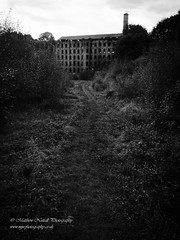 Forward to the Past (Matthew Nuttall Photography) Tags: factory halifax ruin westyorkshire yorkshire blacknwhite broken bw calderdale decay derelict dereliction disused iphone iphonography mill mono monochrome old relic england unitedkingdom